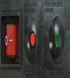Bloc 6 prises parafoudre-parasurtension 16A + Terre - interrupteur